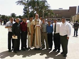 Seminarians with Cardinal Mahoney